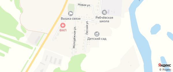Лесная улица на карте села Рябчевска с номерами домов