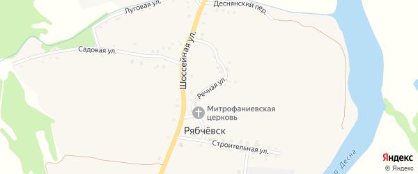 Речная улица на карте села Рябчевска с номерами домов