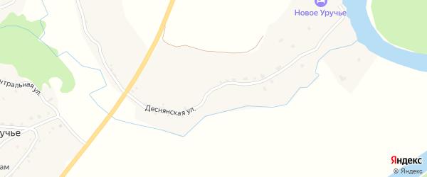 Деснянская улица на карте села Уручья с номерами домов