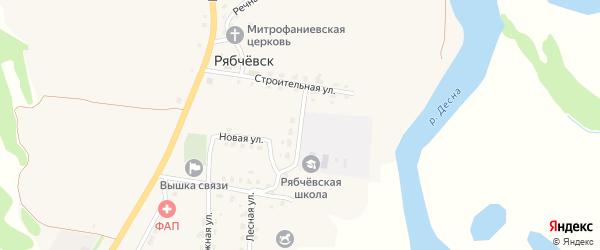 Школьная улица на карте села Рябчевска с номерами домов
