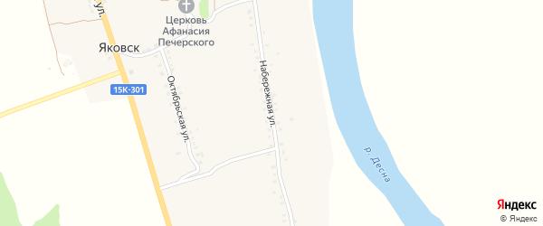 Набережная улица на карте деревни Яковска с номерами домов