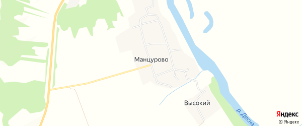Карта деревни Манцурово в Брянской области с улицами и номерами домов