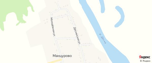 Деснянская улица на карте деревни Манцурово с номерами домов