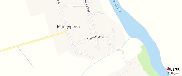 Нагорная улица на карте деревни Манцурово с номерами домов
