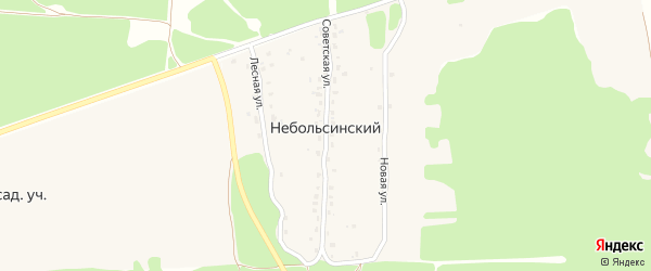 Полевая улица на карте Небольсинского поселка с номерами домов
