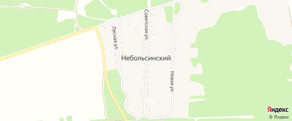 Советская улица на карте Небольсинского поселка с номерами домов
