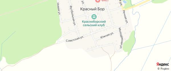 Советская улица на карте поселка Красного Бора с номерами домов