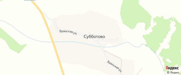 Брянская улица на карте села Субботово с номерами домов