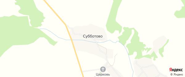Карта села Субботово в Брянской области с улицами и номерами домов