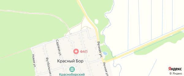 Речной переулок на карте поселка Красного Бора с номерами домов