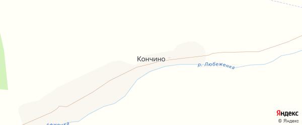Зеленая улица на карте поселка Кончино с номерами домов