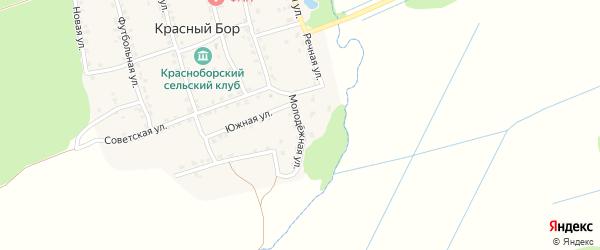 Молодежная улица на карте поселка Красного Бора с номерами домов