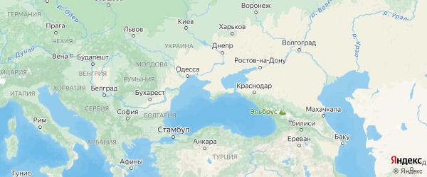 Карта Крыма с городами и районами