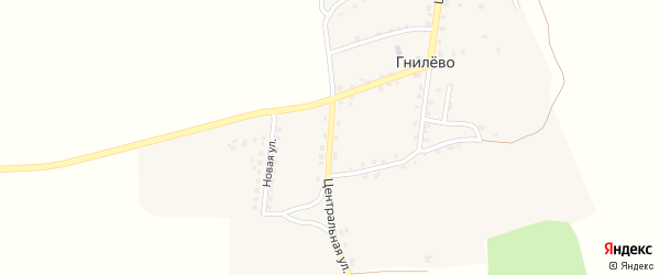Трубчевский переулок на карте села Гнилево с номерами домов