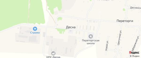 Территория Паи Десна на карте территории Утынского сельского поселения с номерами домов