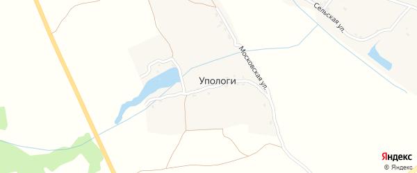 Московская улица на карте деревни Упологи с номерами домов