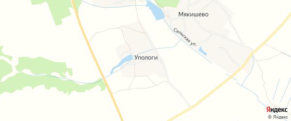 Карта деревни Упологи в Брянской области с улицами и номерами домов