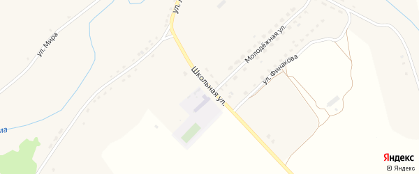 Школьная улица на карте села Немеричи с номерами домов