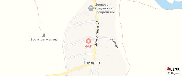 Улица Мира на карте села Гнилево с номерами домов