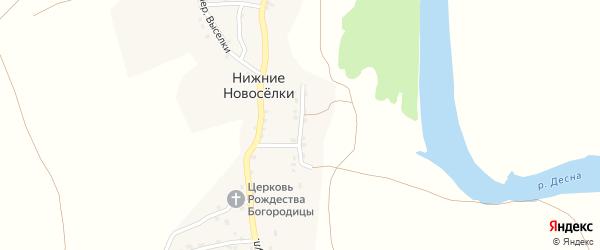 Набережная улица на карте деревни Нижние Новоселки с номерами домов
