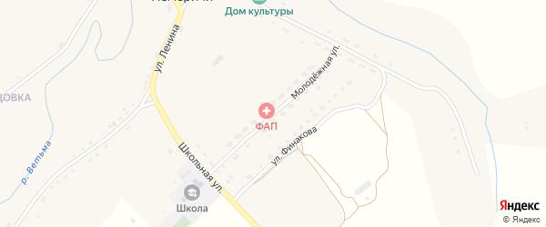 Молодежная улица на карте села Немеричи с номерами домов