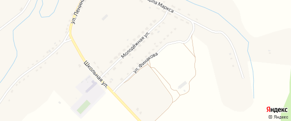 Улица Финакова на карте села Немеричи с номерами домов
