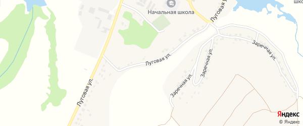 Луговая улица на карте деревни Бетово с номерами домов