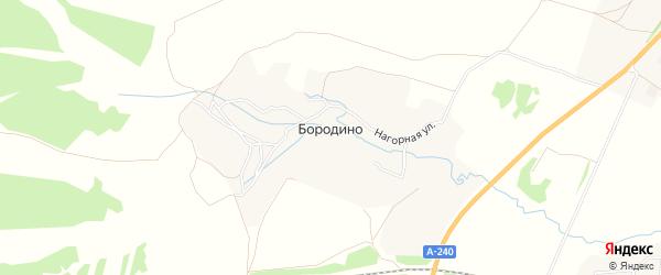Карта деревни Бородино в Брянской области с улицами и номерами домов