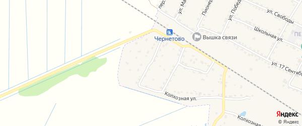 1-й Колхозный переулок на карте Сельца с номерами домов