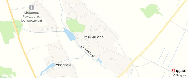 Карта деревни Мякишево в Брянской области с улицами и номерами домов
