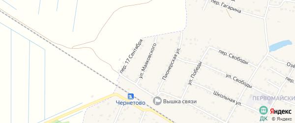 Улица Маяковского на карте Сельца с номерами домов