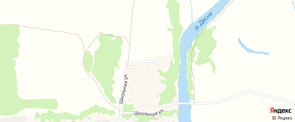 Улица Меловая Гора на карте деревни Переторгов с номерами домов