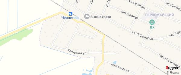 2-й Колхозный переулок на карте Сельца с номерами домов