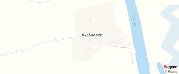 Деснянская улица на карте деревни Аксеновска с номерами домов