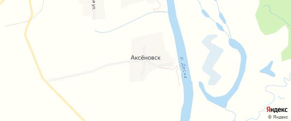 Карта деревни Аксеновска в Брянской области с улицами и номерами домов