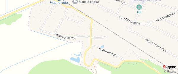 Колхозная улица на карте Сельца с номерами домов