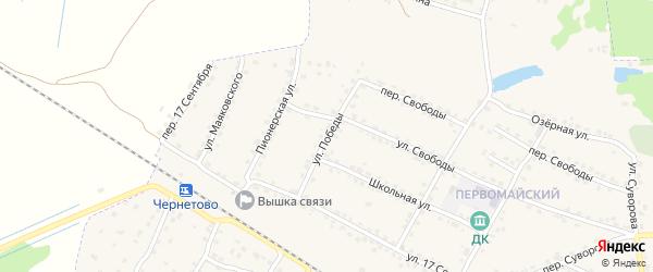 Улица Победы на карте Сельца с номерами домов