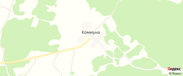 Луговая улица на карте поселка Коммуна с номерами домов