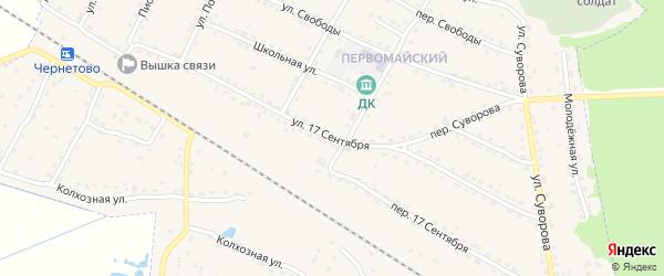Улица 17 Сентября на карте Сельца с номерами домов