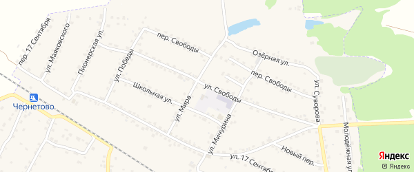 Улица Свободы на карте Сельца с номерами домов