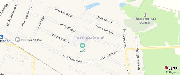 Улица Победы на карте Первомайского поселка с номерами домов