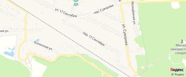 Переулок 17 Сентября на карте Сельца с номерами домов
