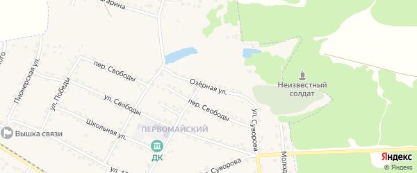 Озерная улица на карте Сельца с номерами домов