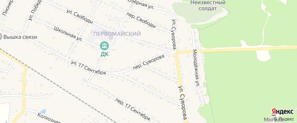Переулок Суворова на карте Сельца с номерами домов