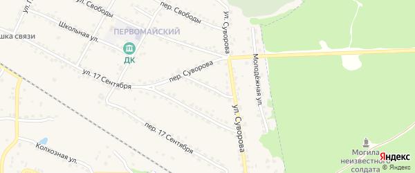 Новый переулок на карте Сельца с номерами домов