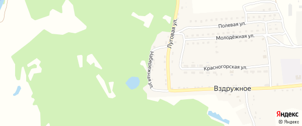 Набережная улица на карте Вздружного села с номерами домов