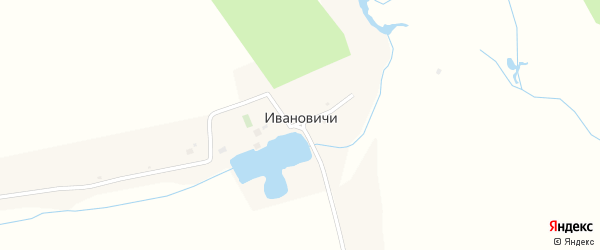 Полевая улица на карте деревни Ивановичи с номерами домов