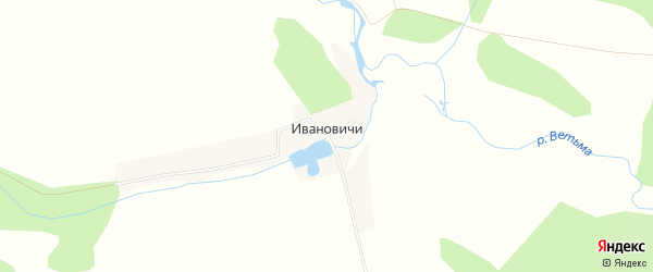 Карта деревни Ивановичи в Брянской области с улицами и номерами домов