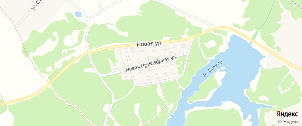 Новая Приозерная улица на карте поселка Суземки с номерами домов