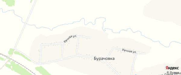 Речная улица на карте деревни Бурачовки с номерами домов